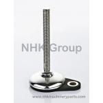 Machine leveling feet HMFx1 stainless base full threaded A2-70 spindle