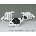 Oval 2 Bolt Flange Unit FLPL White