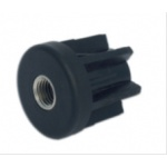 Round threaded tube inserts in reinforced polyamide