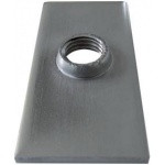Threaded stainless steel plate for rectangular tube (Aisi 1.4301)