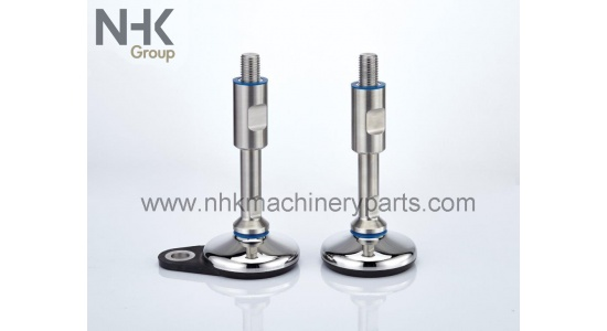 Machine feet in hygienic design SHMF 3A with floor lock plate