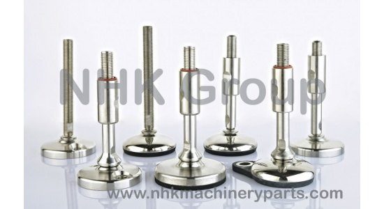 Stainless steel adjustable feet in with rubber base