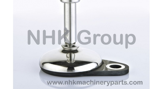 Machine leveling feet EHMFx1 round base with floor lock plate