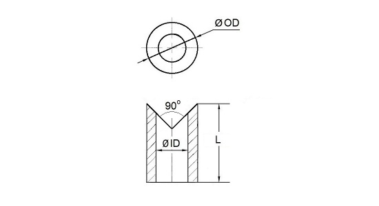 Corner weld spacer in stainless steel drawing