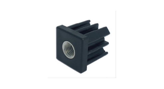 Square threaded tube inserts in reinforced polyamide